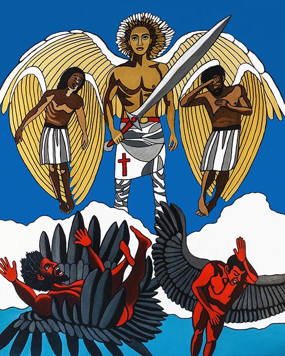 archangel michael casts out satan2a