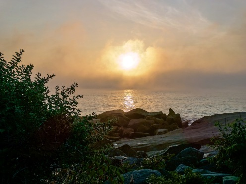 backshore sunrise in fog awesome